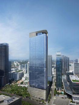 830 Brickell Plaza. Designed by Adrian Smith + Gordon Hill Architecture