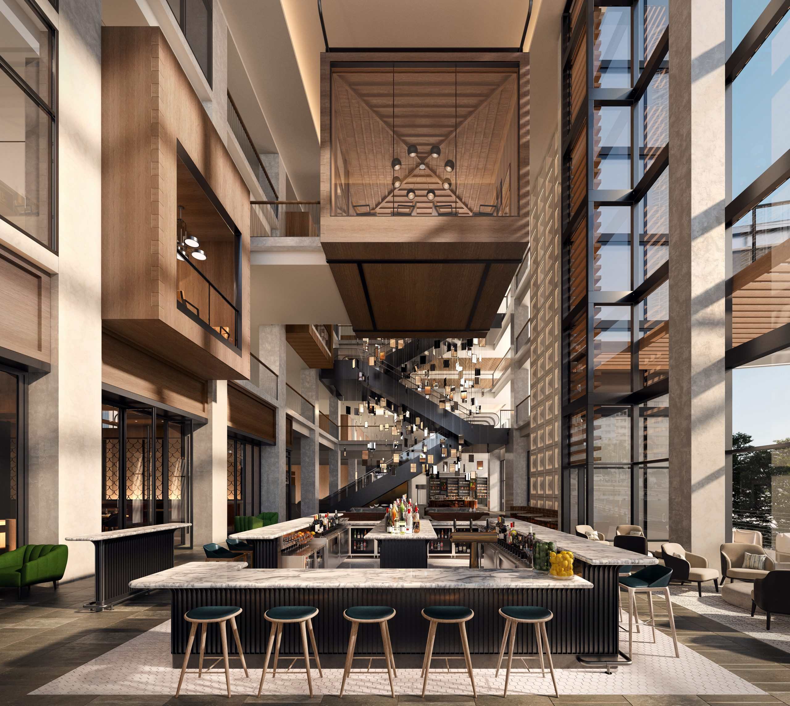 JW Marriott Tampa Atrium. Courtesy of Strategic Property Partners.
