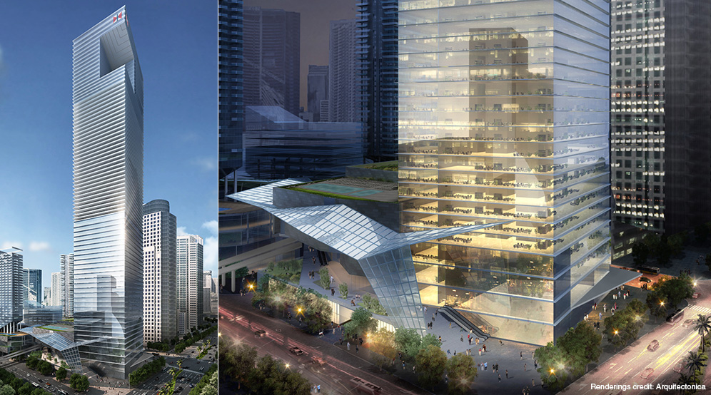 One Brickell City Centre; designed by Arquitectonica.