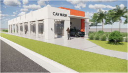3D Rendering of Gas Station/Car Wash Combo