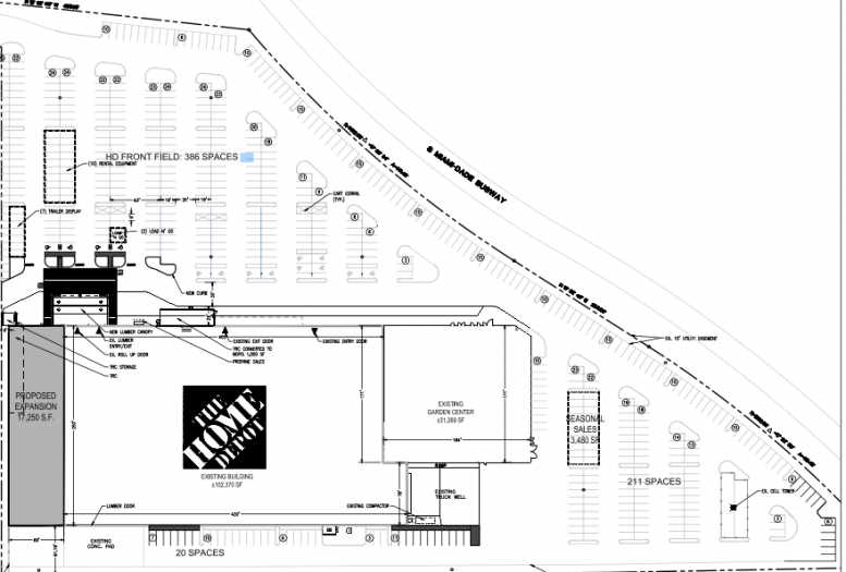 The expansion's site plans