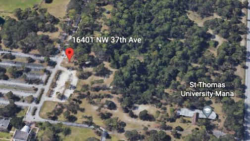 The future site of St. Thomas University's new dormitory