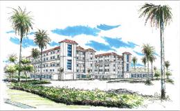 Conceptual rendering of University Hospital in Davie, FL