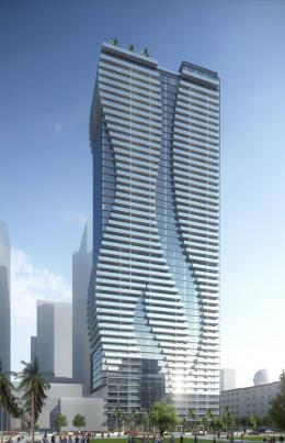 Miami World Tower. Designed by NBWW Architects.