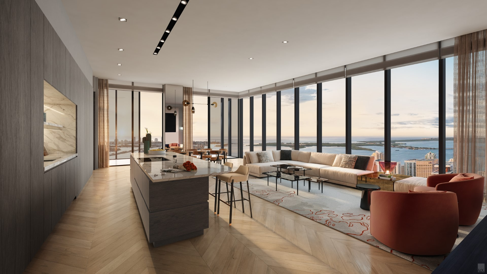 Residential Unit at Waldorf Astoria Miami, interiors by Bamo Interior Design