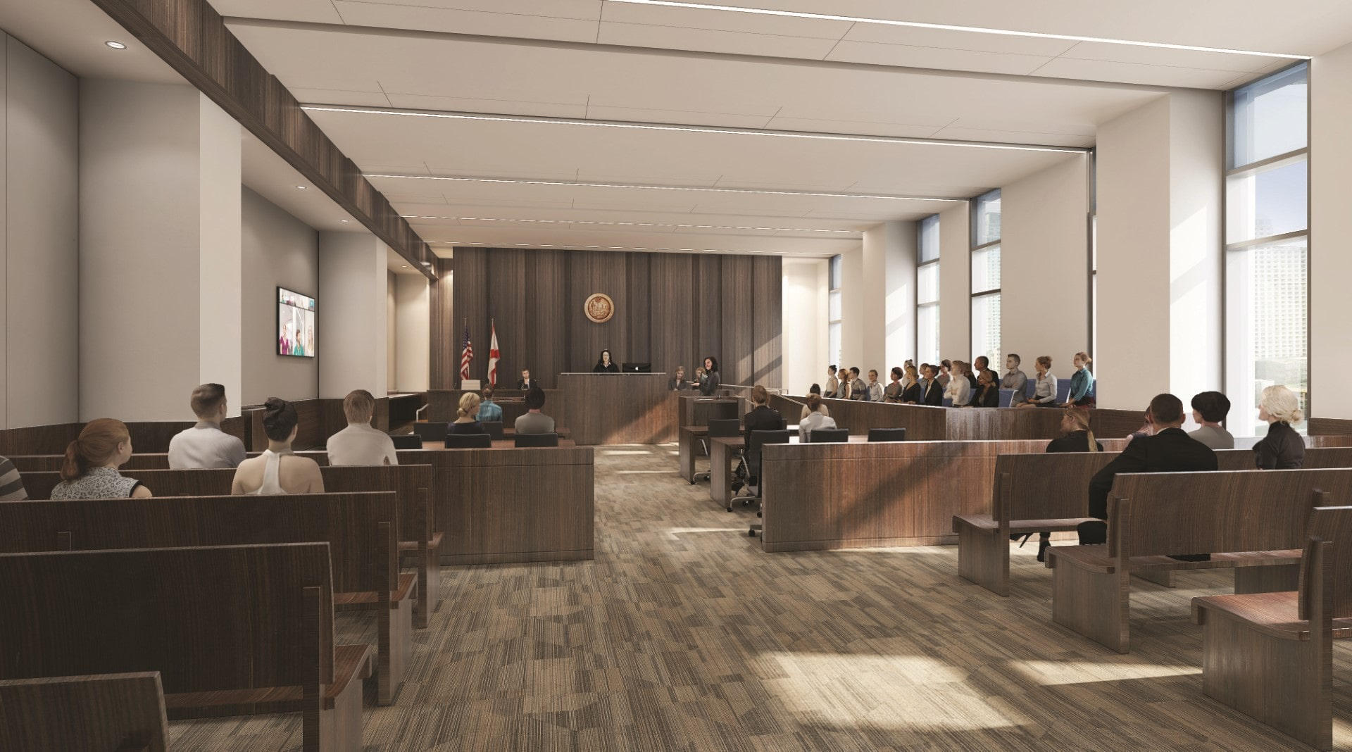 Miami-Dade County Civil and Probate Courthouse; designed by HOK.