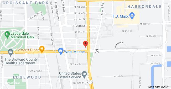 The hotel's location, per Google Streetview