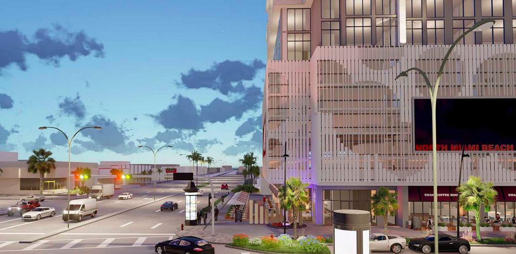 A conceptual rendering of Skygarden Apartments