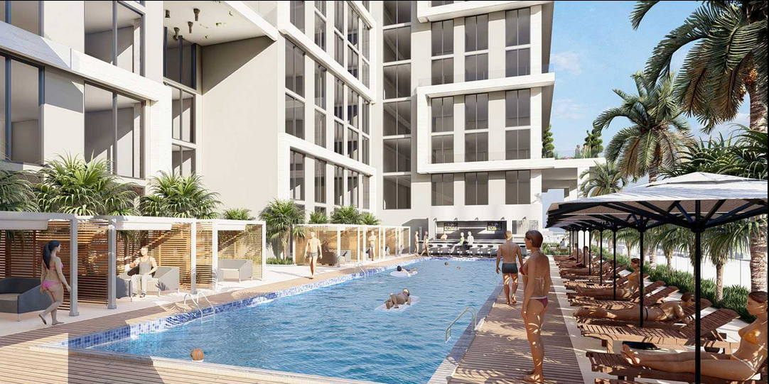 The complex will feature a pool on one of its upper stories