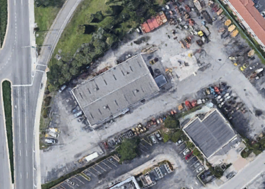 An aerial view of the build site