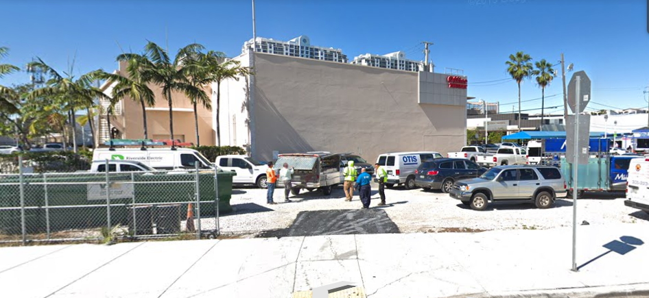 A streetview of the future construction site; construction will hopefully start next year