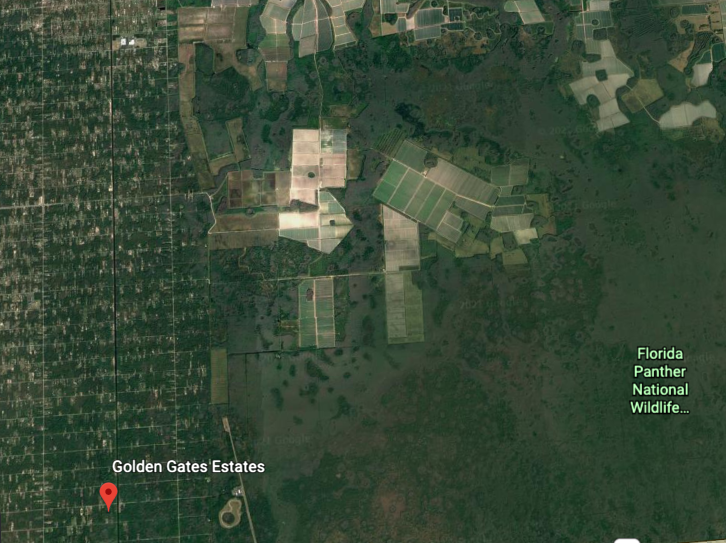 An aerial view of the build site via Google Earth