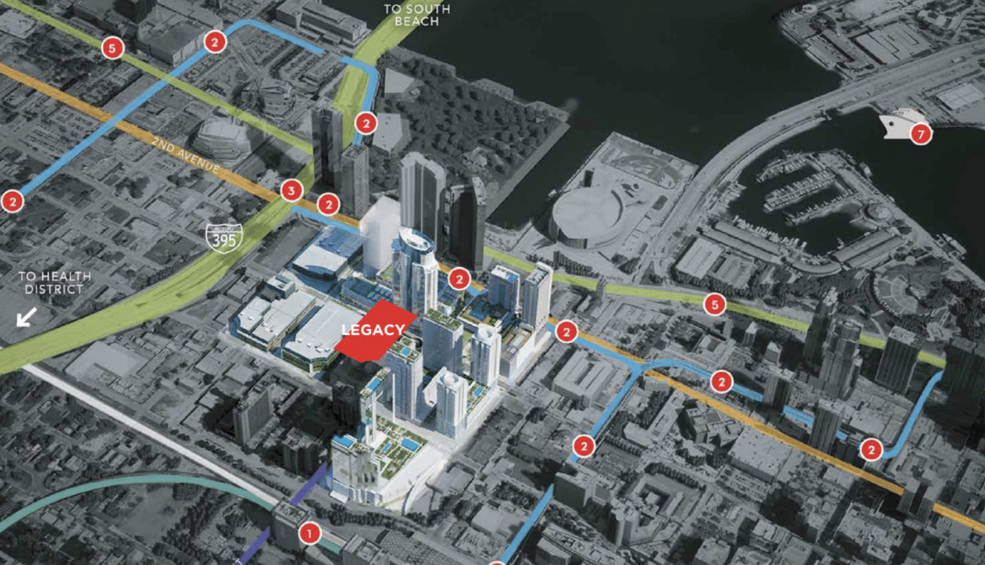 Miami Worldcenter Site Map. Courtesy of OneWorld Properties.