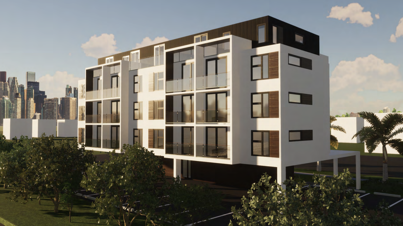 Colibri Apartments. Designed by FieldAgency Architecture.