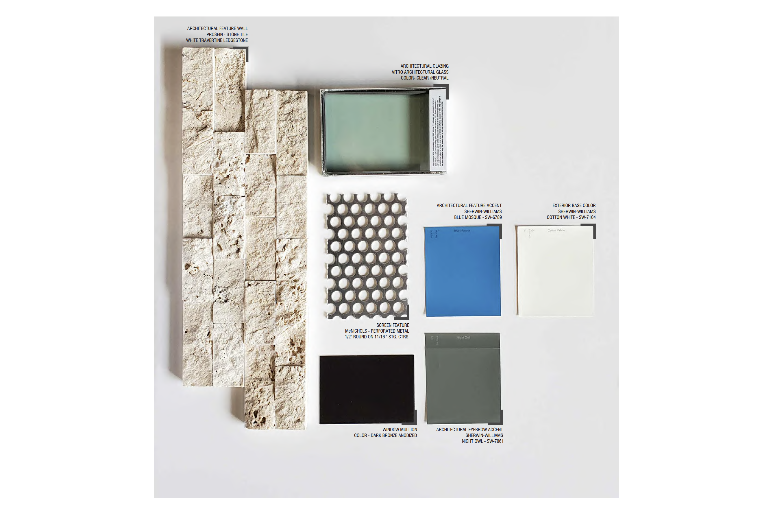 Colors & Materials. Courtesy of Mateu Architecture.