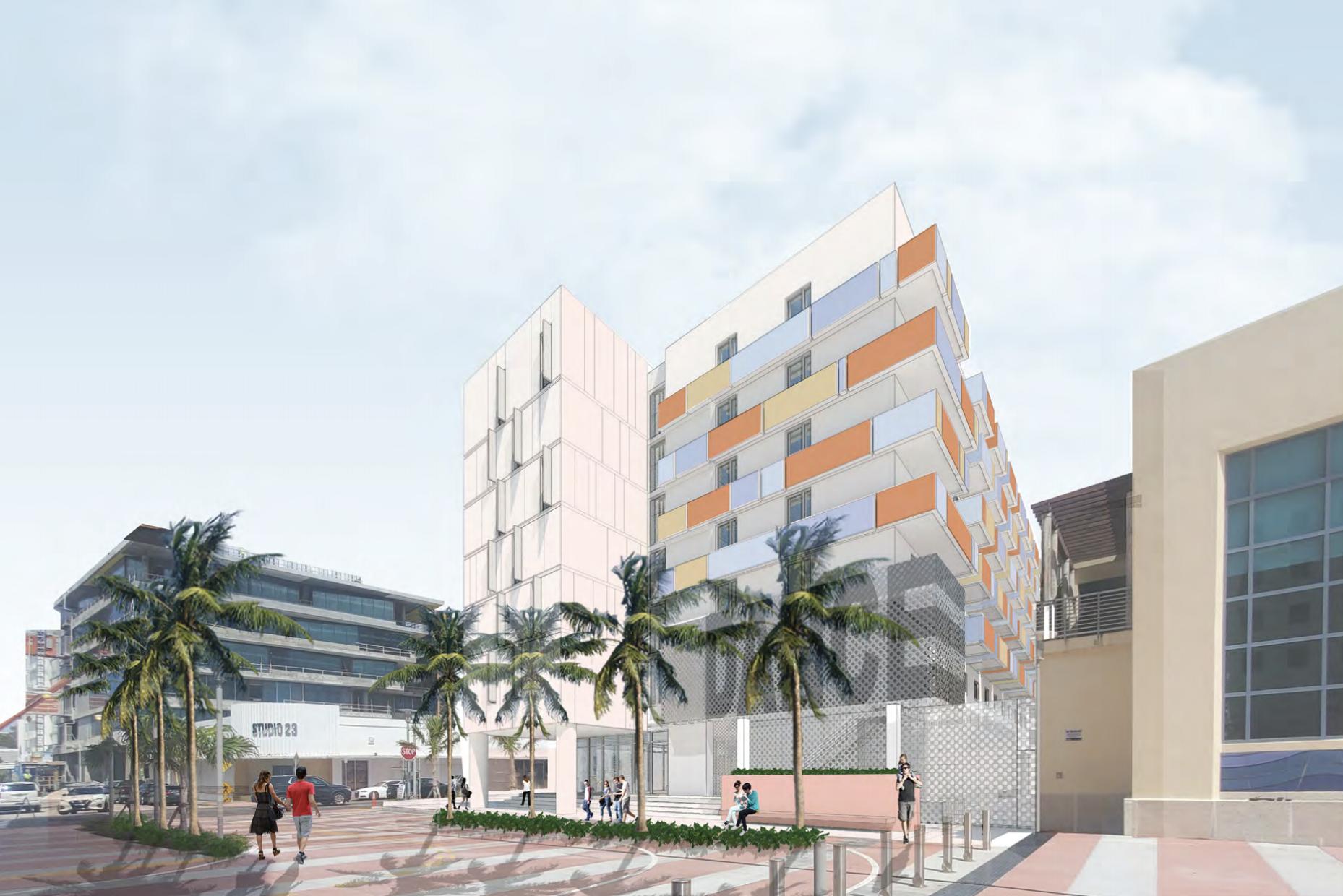 Collins Park Artist Workforce Housing. Designed by Shulman + Associates.