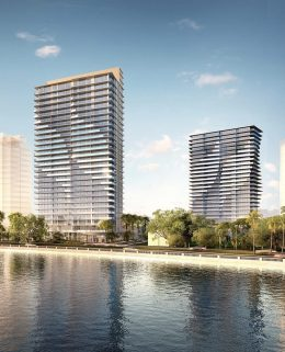 Ritz-Carlton Residences Tampa. Designed by Arquitectonica.