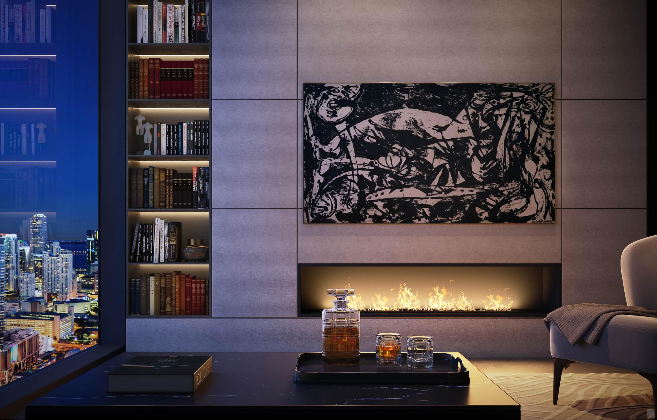 Living Room. Designed by AvroKO Hospitality Group & Studio Ramirez.