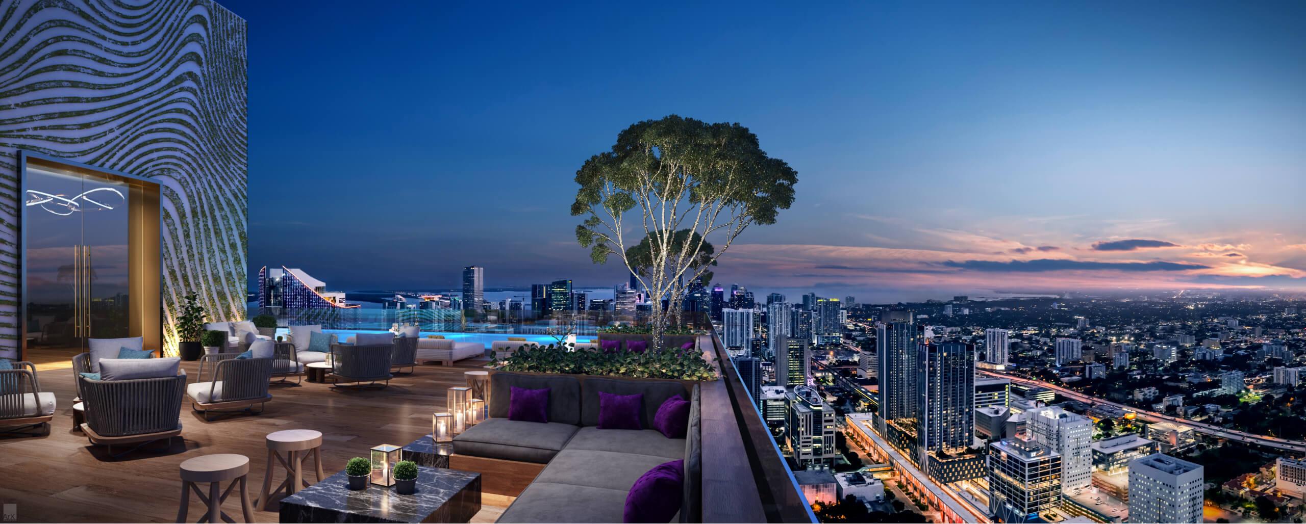 Rooftop Deck. Designed by AvroKO Hospitality Group & Studio Ramirez.