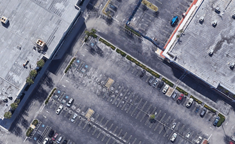 An aerial view of the build site, per Google Earth