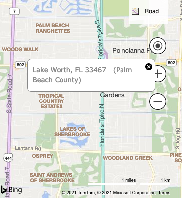 The build site's general location