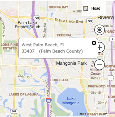 The development is located in Palm Beach County, FL