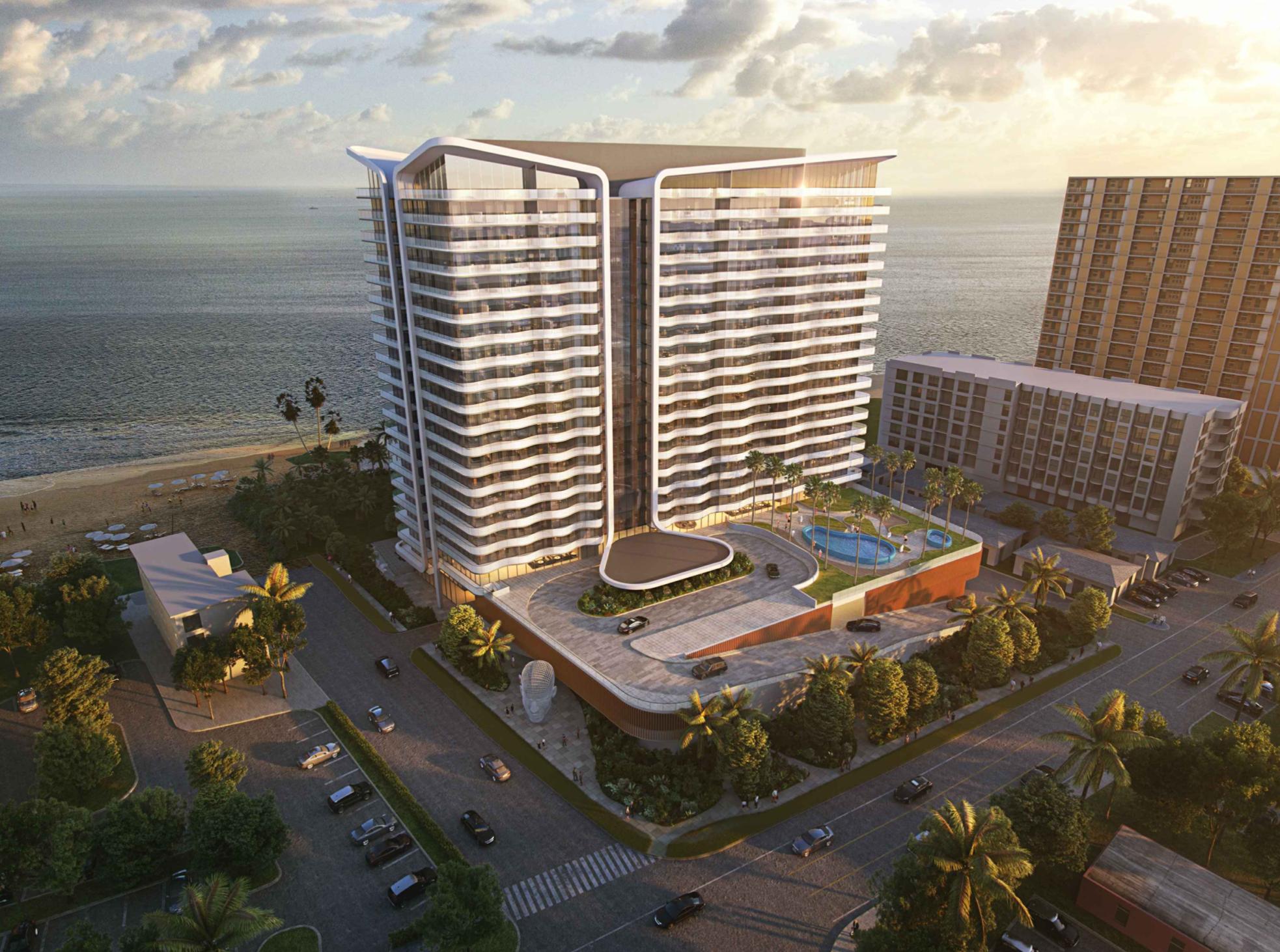 900 N Ocean Blvd. Designed by Arquitectonica.