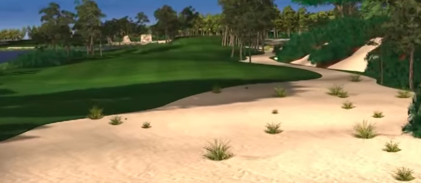 Paradise Isles will feature an 18-hole golf course, as seen in this conceptual art