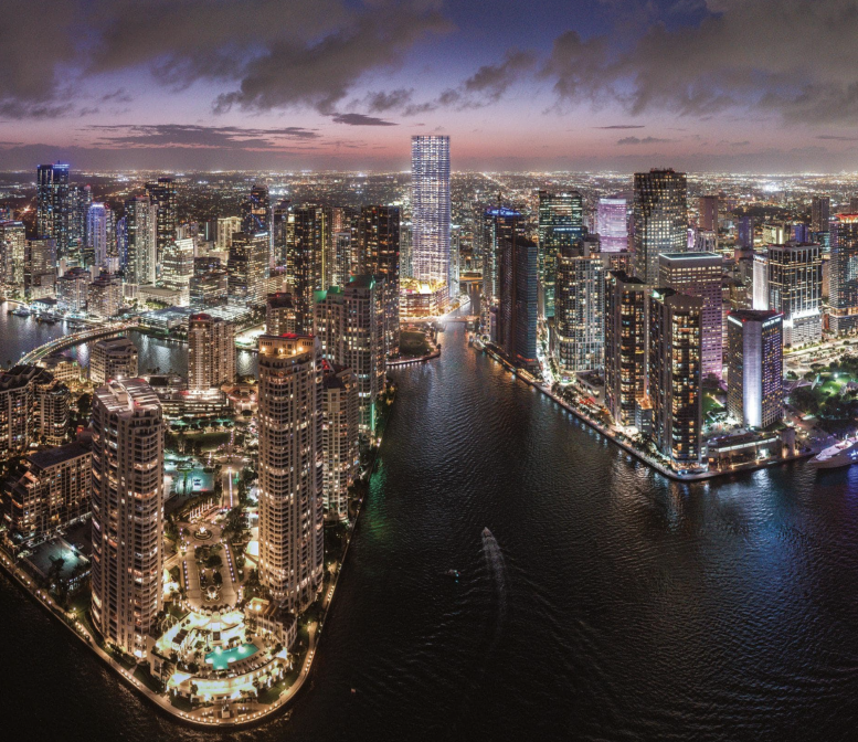 Baccarat Residences Brickell. Designed by Arquitectonica.