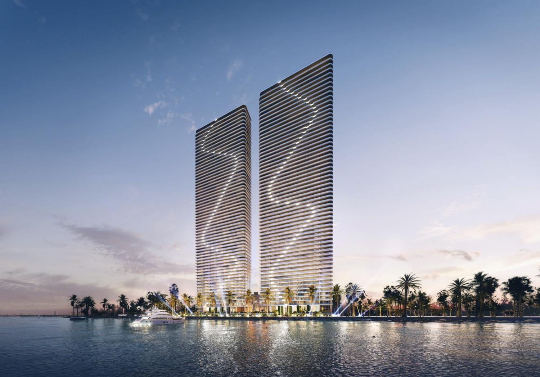 Aria Reserve Miami. Designed by Arquitectonica.