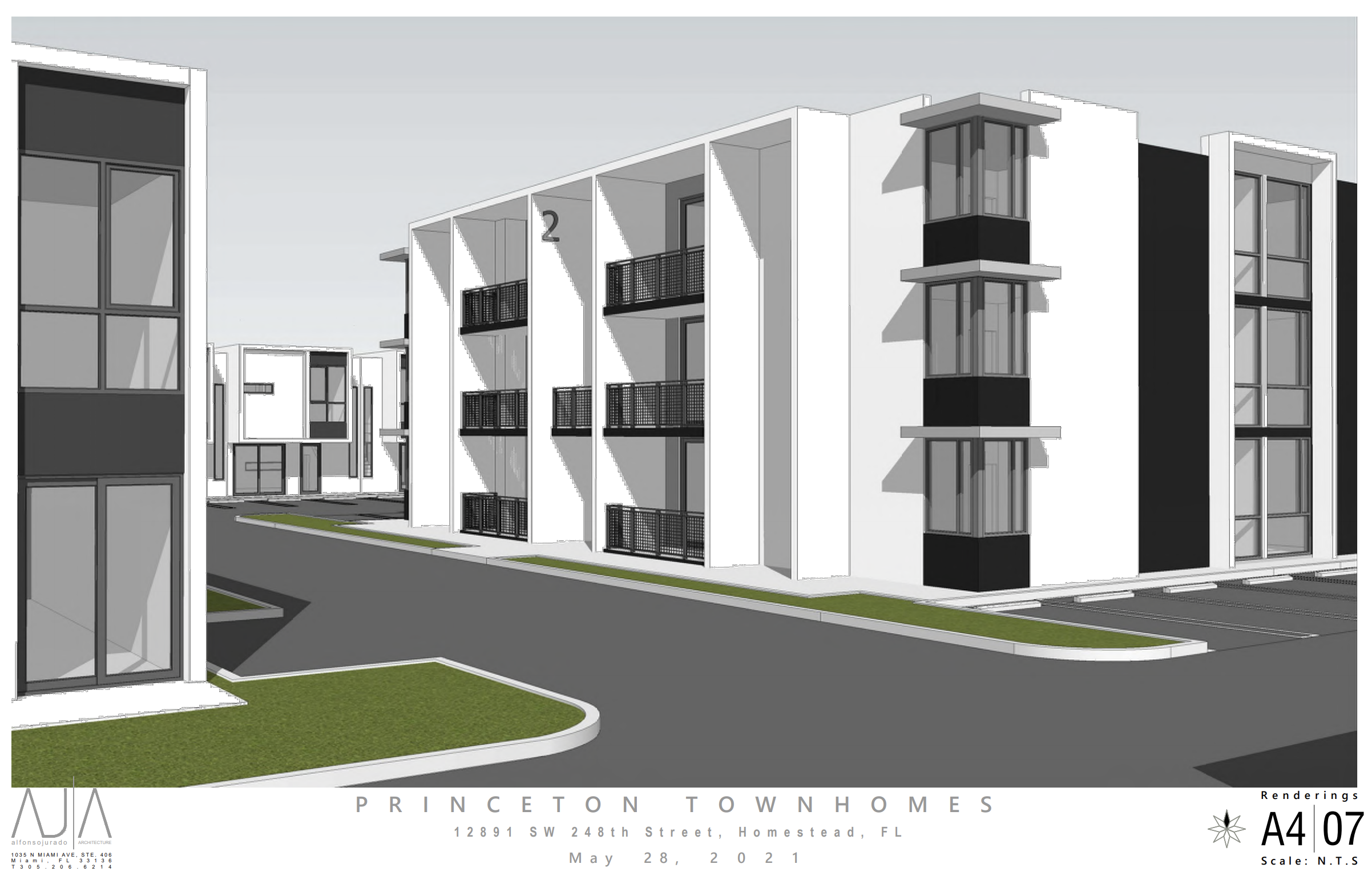 Quo Townhomes. Designed by Alfonso Jurado Architecture.