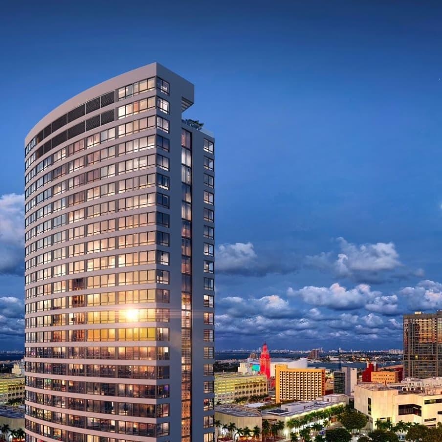 The District. Designed by Sieger Suarez Architects.
