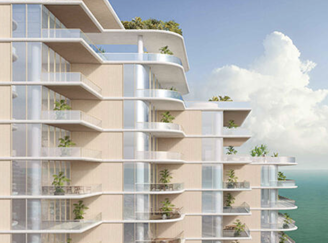 Tentative Rendering of 5333 Collins Avenue. Designed by Rem Koolhaas. Courtesy of Mast Capital.