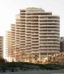 Tentative Rendering of 5333 Collins Avenue. Designed by OMA. Courtesy of Mast Capital.
