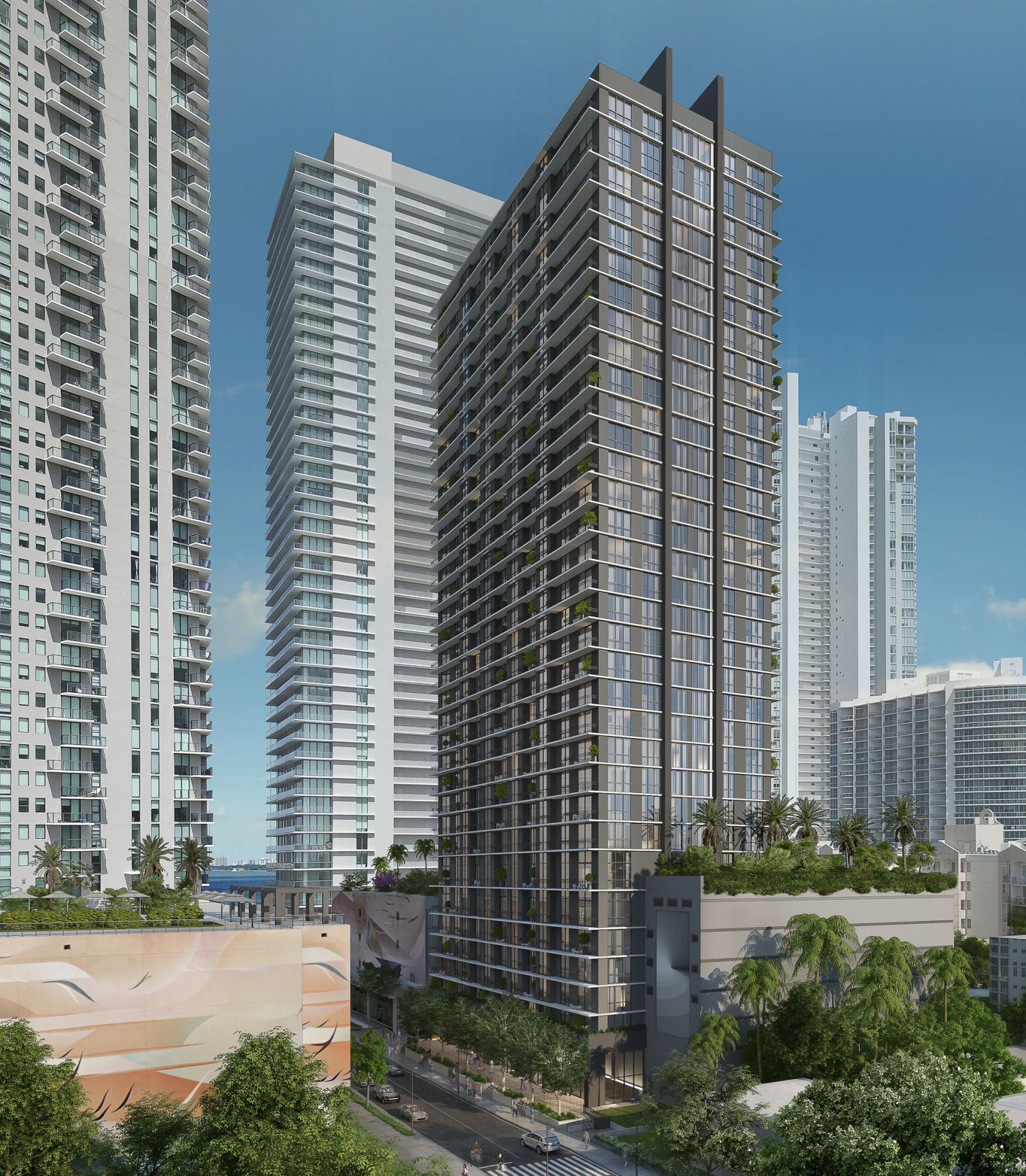 Metro Edgewater. Designed by Burgos Lanza Architects & Planners.