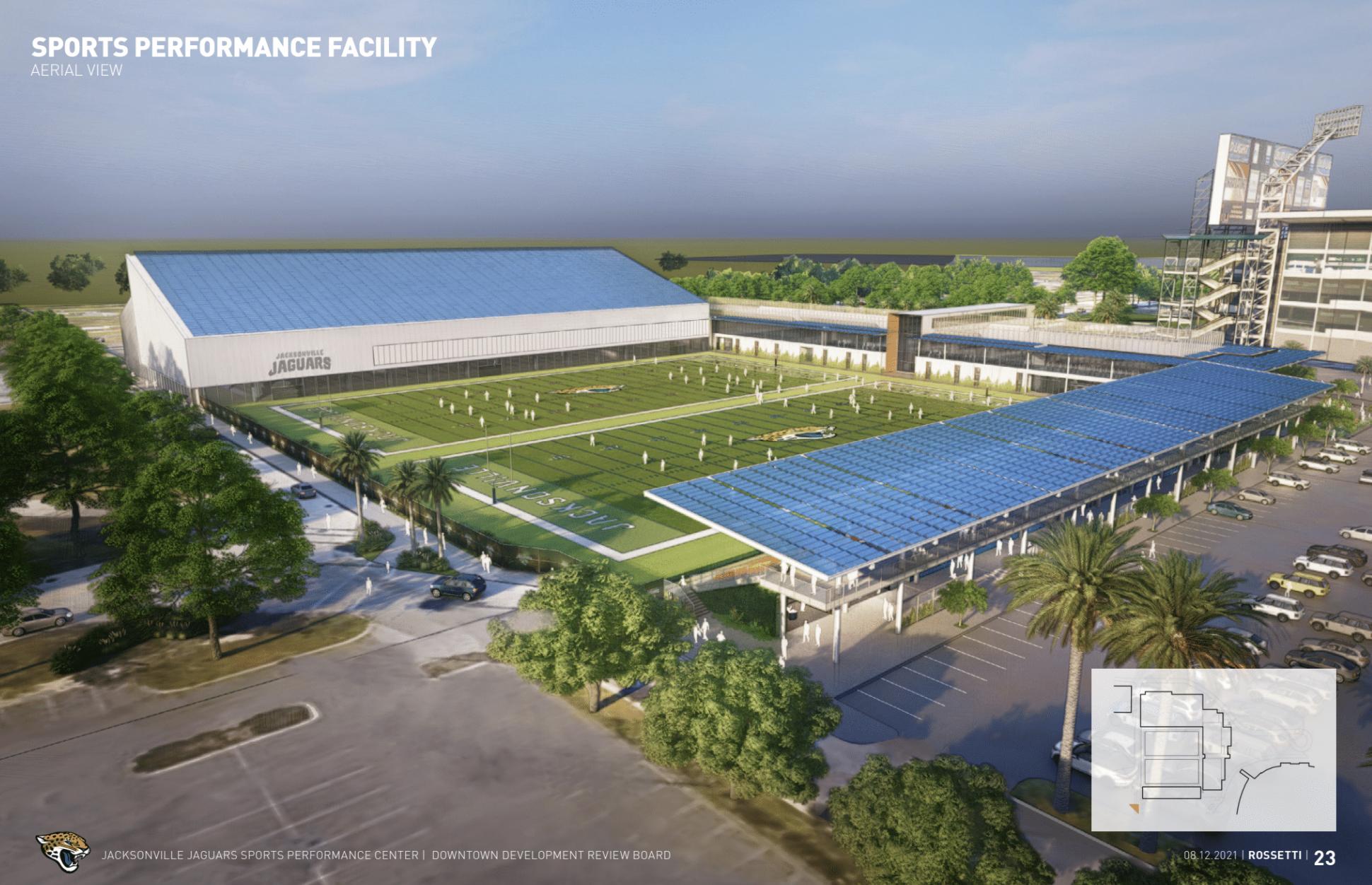 Jacksonville Jaguars Sports Performance Center. Designed by Rossetti.