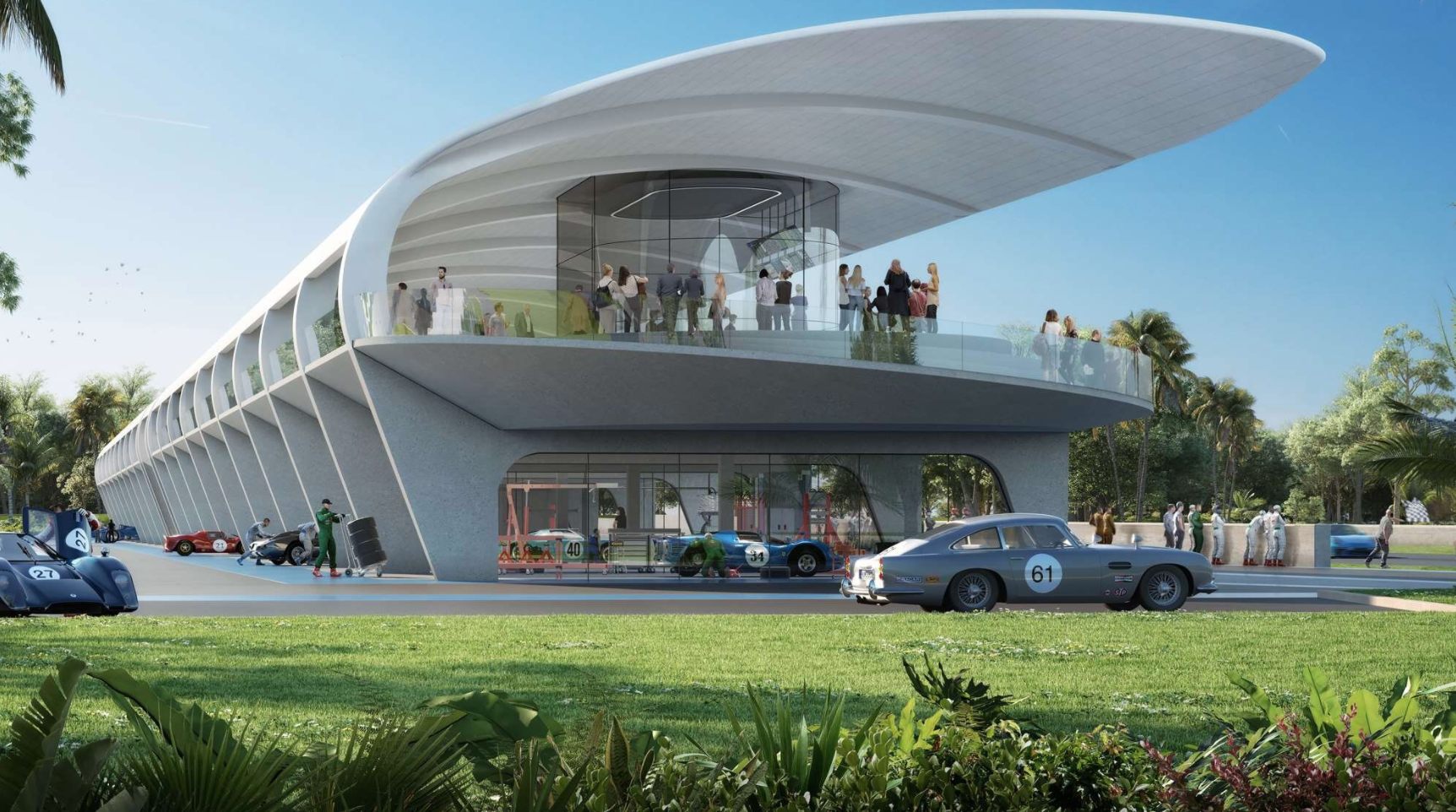 Drivers Club Miami. Designed by Norman Foster.