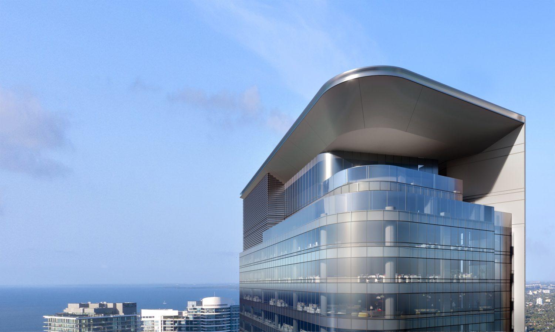 830 Brickell. Designed by Adrian Smith + Gordon Hill Architecture