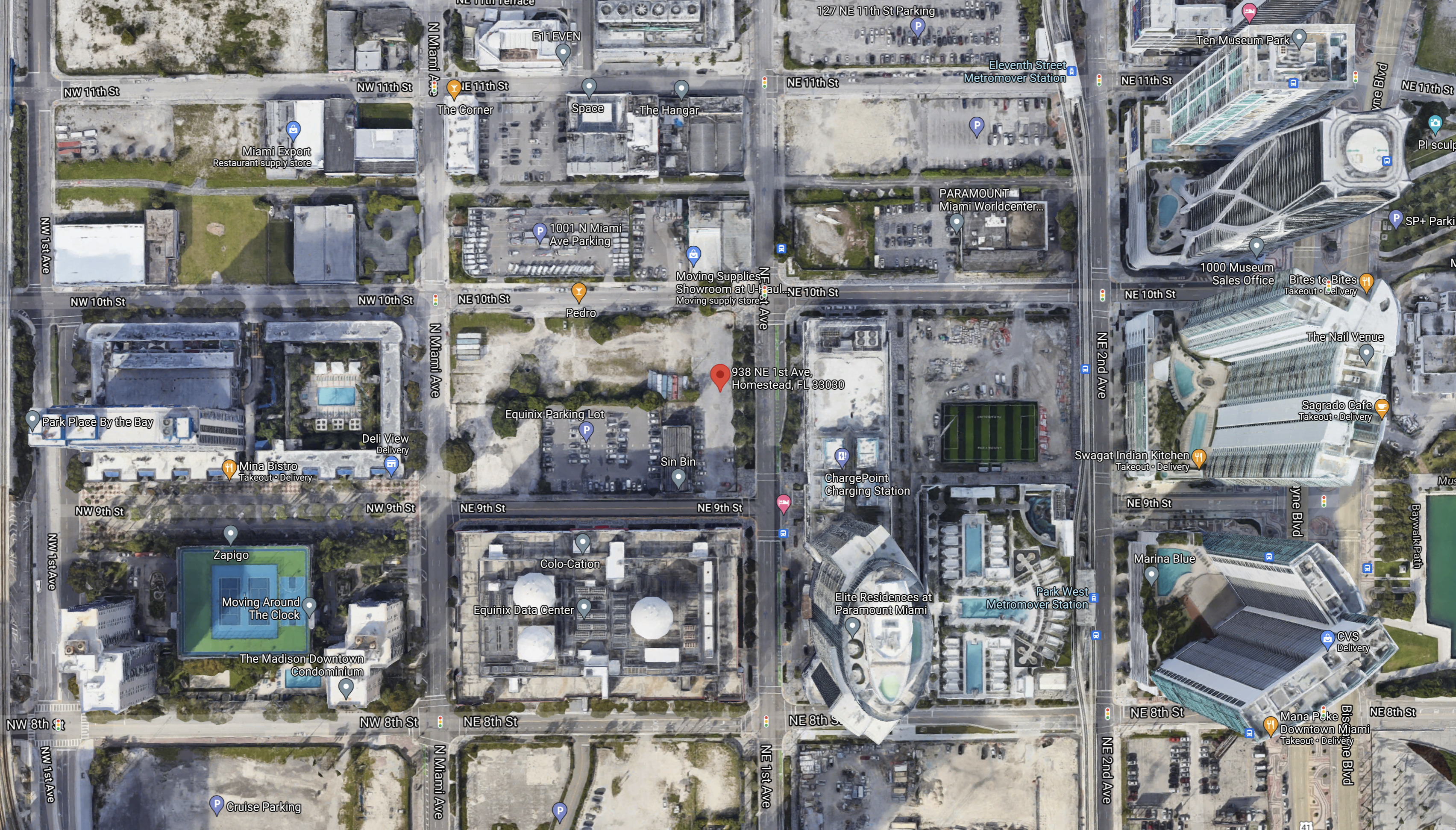 Aerial View of Subject Property. Courtesy of Google Maps.