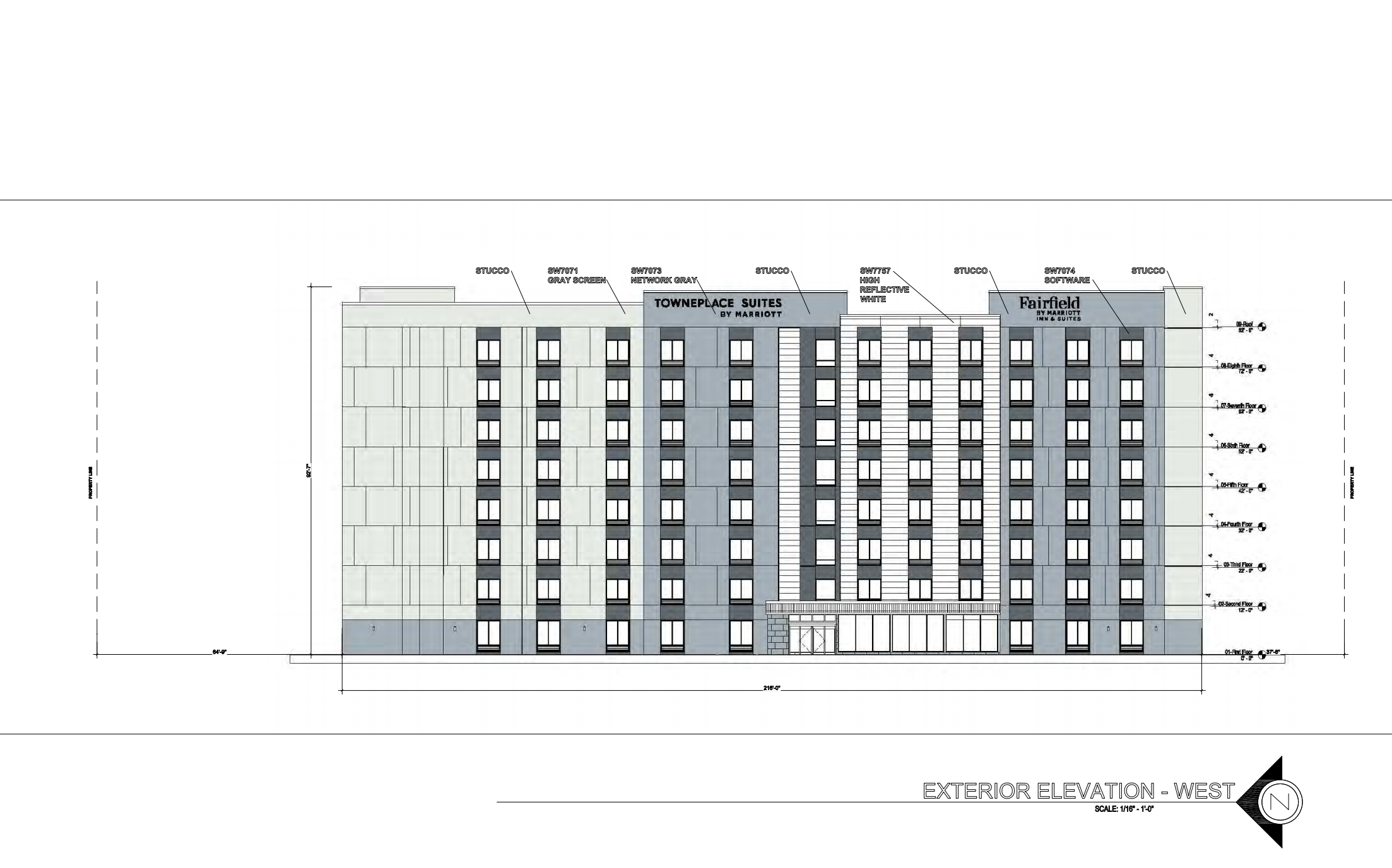 Fairfield Inn & Townplace Suites. Designed by George White Architect.
