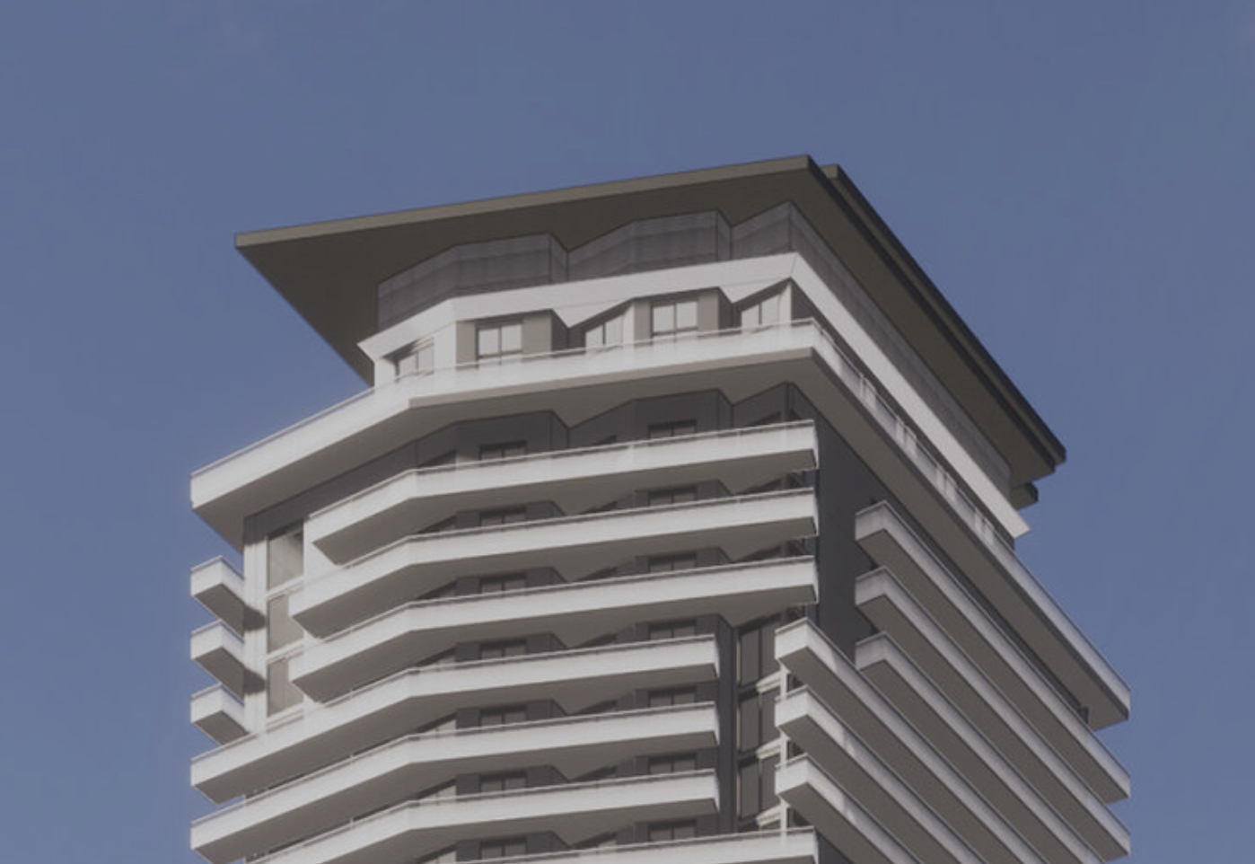 Lofty Brickell (Preliminary Design). Courtesy of Arquitectonica.