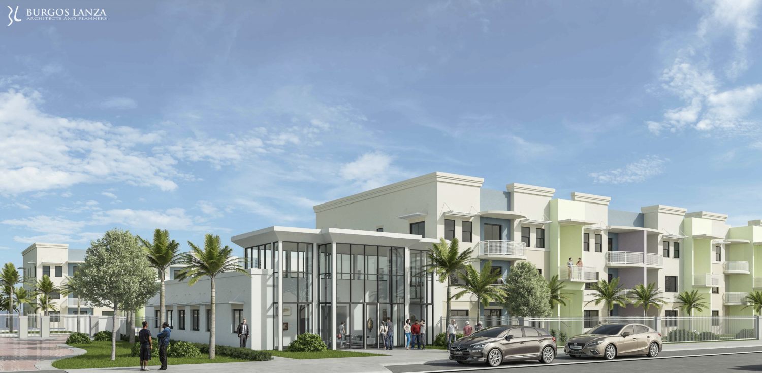 Royal Pointe Apartments. Designed by Burgos Lanza Architects & Planners.