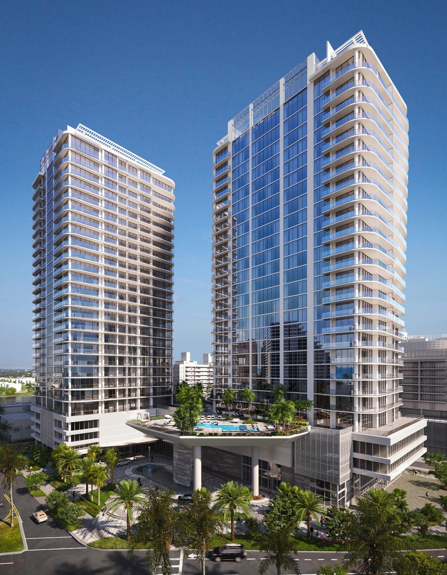 Selene Oceanfront Residences. Rendering courtesy of Evolution Virtual.